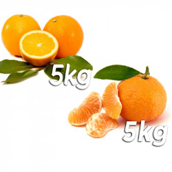 Pack 10kg naranjas y mandarinas - Navel Powel y Gold Nugget