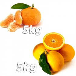 10Kg Mixed Box of Juice Oranges and Tangenes
