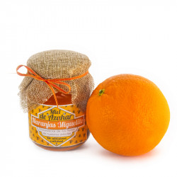 Caixa com 350gr de mel de laranjeira e 10kg de laranjas  Navel Powel