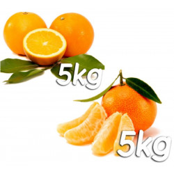 Pack 10kg naranjas y mandarinas - Navel Lane Late y Gold Nugget