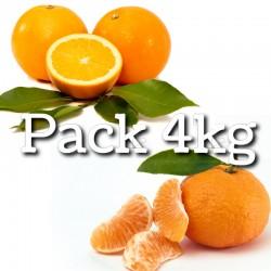 Pack SINGLE - Naranjas + Mandarinas - 4 kg